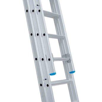 Actie: Driedelige ladder 3x8 Maxall Basic | werkhoogte 5,75 m.