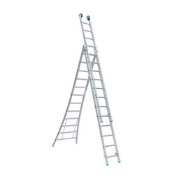 Actie: Driedelige ladder 3x8 Maxall Basic