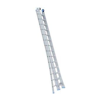 Driedelige ladder 3x9 Maxall geanodiseerd