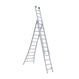 Maxall Driedelige ladder 3x10  Maxall Premium