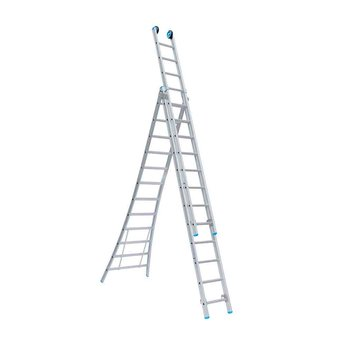 Driedelige ladder 3x12 Maxall  Premium | werkhoogte 8,75 m.
