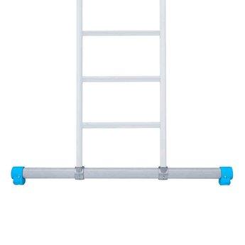 Driedelige ladder 3x14 Maxall recht met stabiliteitsbalk | werkhoogte 10,0 m.