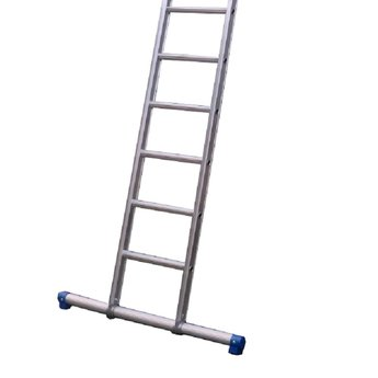 Enkele ladder 1x18 Maxall recht met stabiliteitsbalk
