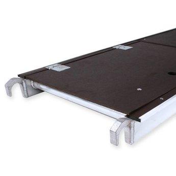 Steigeraanhanger afsluitbaar 250 + Rolsteiger Compleet 135 x 250 x 9,2 meter werkhoogte  met lichtgewicht vloeren
