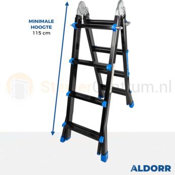 Multifunctionele Vouwladder DHZ Black 4x4