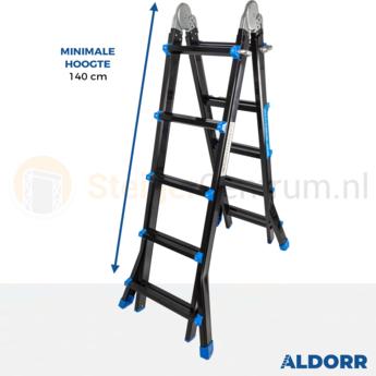 Multifunctionele Vouwladder DHZ Black 4x5