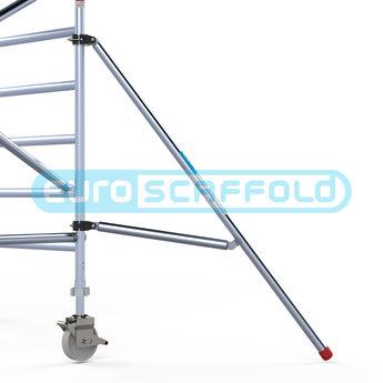 Rolsteiger Voorloopleuning Enkel 135 x 190 x 7,2 meter werkhoogte met lichtgewicht platform