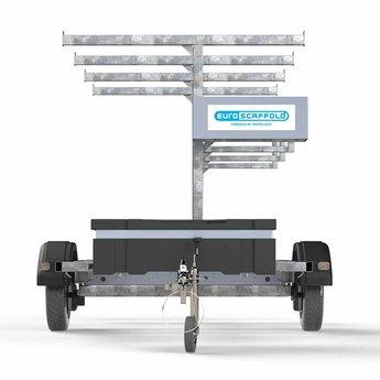 Steigeraanhanger voor het vervoeren van rolsteigers met lengtemaat tot 250 cm