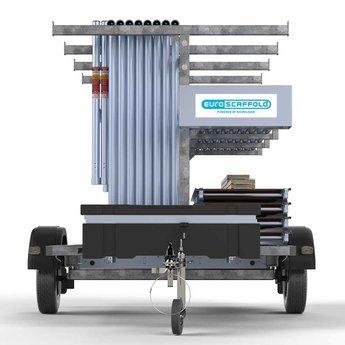 Steigeraanhanger 250 + Rolsteiger Basis 75 x 250 x 8,2 meter werkhoogte