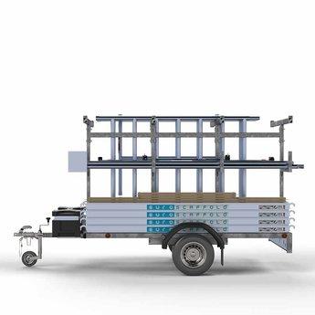 Steigeraanhanger 250 + Rolsteiger Basis 75 x 190 x 9,2 meter werkhoogte