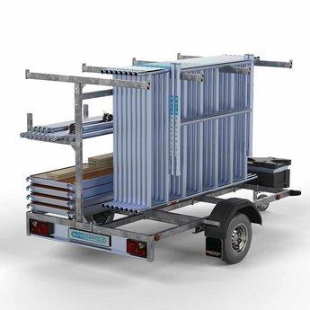 Steigeraanhanger 250 + Rolsteiger Basis 90 x 190 x 9,2 meter werkhoogte