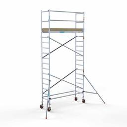 Rolsteiger Basis 75 x 250 x 6,2 meter werkhoogte met lichtgewicht platform