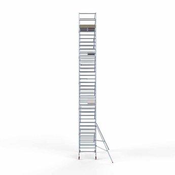 Basis rolsteiger 135 x 250 x 12,2 meter werkhoogte  met lichtgewicht platform