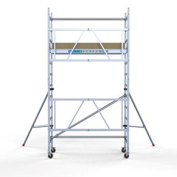 Steiger Euroscaffold werkhoogte 4,7 meter met stabilisatoren