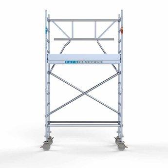 Rolsteiger Voorloopleuning Enkel 75 x 190 x 4,2 meter werkhoogte met lichtgewicht platform
