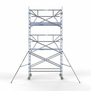 Rolsteiger met enkele voorloopleuning 135 x 250 x 6,2 meter werkhoogte met lichtgewicht platform