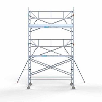 Rolsteiger met enkele voorloopleuning 135 x 305 x 6,2 meter werkhoogte met lichtgewicht platform