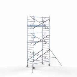 Rolsteiger Voorloopleuning Enkel 135 x 250 x 7,2 meter werkhoogte met lichtgewicht platform