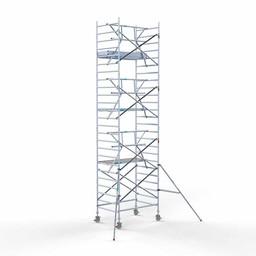 Rolsteiger Voorloopleuning Enkel 135 x 190 x 8,2 meter werkhoogte met lichtgewicht platform