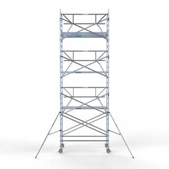 Rolsteiger met enkele voorloopleuning 135 x 250 x 8,2 meter werkhoogte met lichtgewicht platform