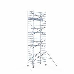 Rolsteiger Voorloopleuning Enkel 135 x 250 x 9,2 meter werkhoogte met lichtgewicht platform