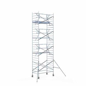 Rolsteiger met enkele voorloopleuning 135 x 250 x 9,2 meter werkhoogte met lichtgewicht platform