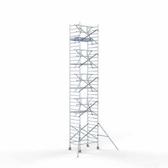 Rolsteiger Voorloopleuning Enkel 135 x 190 x 11,2 meter werkhoogte met lichtgewicht platform