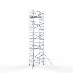 Rolsteiger Voorloopleuning Enkel 135 x 250 x 11,2 meter werkhoogte met lichtgewicht platform