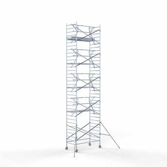 Rolsteiger met enkele voorloopleuning 135 x 250 x 11,2 meter werkhoogte met lichtgewicht platform