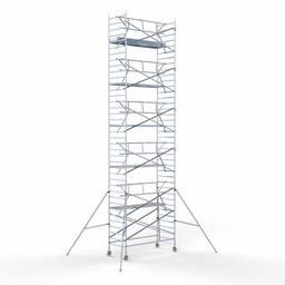 Rolsteiger Voorloopleuning Enkel 135 x 305 x 12,2 meter werkhoogte met lichtgewicht platform