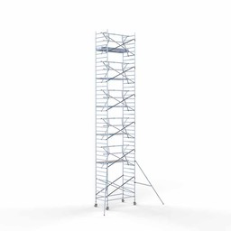 Rolsteiger Voorloopleuning Enkel 135 x 250 x 13,2 meter werkhoogte