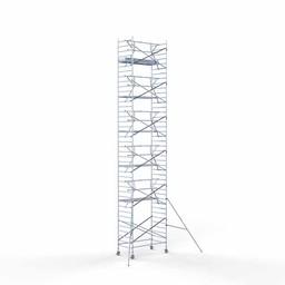 Rolsteiger Voorloopleuning Enkel 135 x 250 x 13,2 meter werkhoogte met lichtgewicht platform