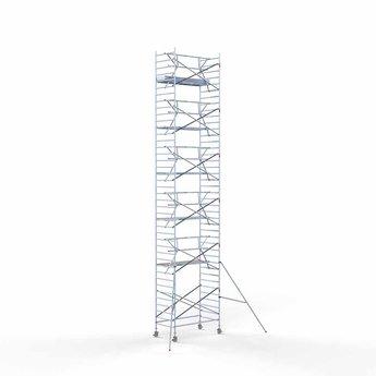 Rolsteiger met enkele voorloopleuning 135 x 250 x 13,2 meter werkhoogte met lichtgewicht platform