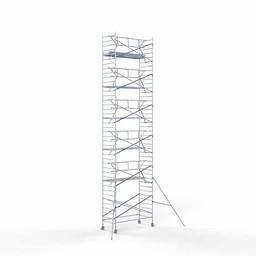 Rolsteiger Voorloopleuning Enkel 135 x 305 x 13,2 meter werkhoogte met lichtgewicht platform