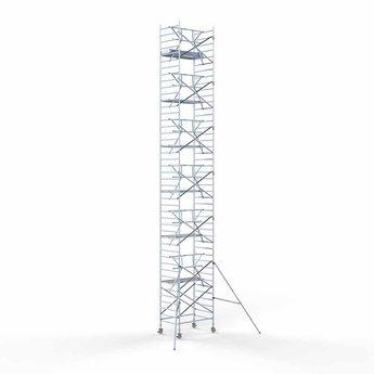 Rolsteiger Voorloopleuning Enkel 135 x 190 x 14,2 meter werkhoogte met lichtgewicht platform