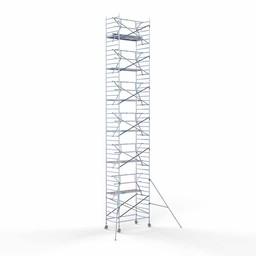 Rolsteiger Voorloopleuning Enkel 135 x 250 x 14,2 meter werkhoogte met lichtgewicht platform
