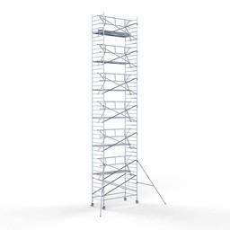 Rolsteiger Voorloopleuning Enkel 135 x 305 x 14,2 meter werkhoogte met lichtgewicht platform
