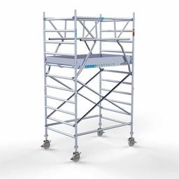 Rolsteiger Voorloopleuning Dubbel 135 x 190 x 4,2 meter werkhoogte met lichtgewicht platform