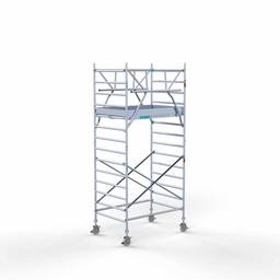 Rolsteiger Voorloopleuning Dubbel 135 x 190 x 5,2 meter werkhoogte met lichtgewicht platform