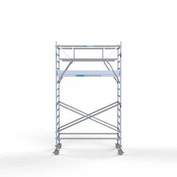 Rolsteiger Voorloopleuning Dubbel 135 x 250 x 5,2 meter werkhoogte  met lichtgewicht platform