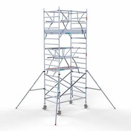 Rolsteiger Voorloopleuning Dubbel 135 x 190 x 6,2 meter werkhoogte met lichtgewicht platform