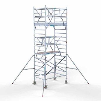 Rolsteiger met dubbele voorloopleuning 135 x 190 x 6,2 meter werkhoogte met lichtgewicht platform