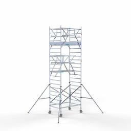 Rolsteiger Voorloopleuning Dubbel 135 x 190 x 7,2 meter werkhoogte met lichtgewicht platform
