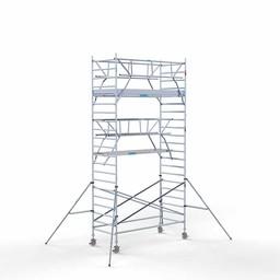 Rolsteiger Voorloopleuning Dubbel 135 x 305 x 7,2 meter werkhoogte met lichtgewicht platform