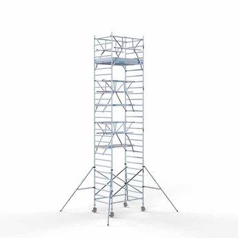 Rolsteiger met dubbele voorloopleuning 135 x 190 x 9,2 meter werkhoogte met lichtgewicht platform