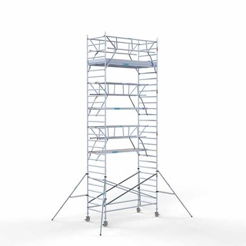 Rolsteiger Voorloopleuning Dubbel 135 x 305 x 9,2 meter werkhoogte met lichtgewicht platform