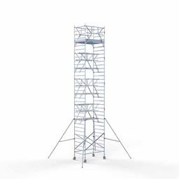 Rolsteiger Voorloopleuning Dubbel 135 x 190 x 11,2 meter werkhoogte met lichtgewicht platform
