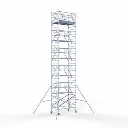 Rolsteiger Voorloopleuning Dubbel 135 x 250 x 12,2 meter werkhoogte met lichtgewicht platform