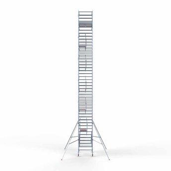 Rolsteiger Voorloopleuning Dubbel 135 x 190 x 14,2 meter werkhoogte met lichtgewicht platformen