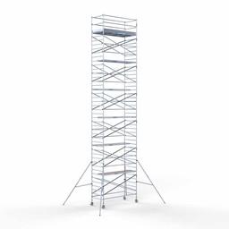 Rolsteiger Voorloopleuning Dubbel 135 x 250 x 14,2 meter werkhoogte met lichtgewicht platformen